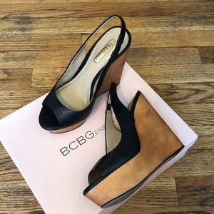 BCBGeneration Wedge Sandals size 6